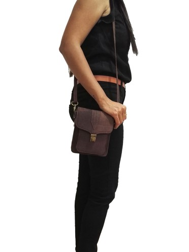 Handmade Genuine Leather Sling Waist Belt Small Bag Fanny Pack Phone Case