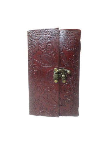 Traditional Vintage Genuine Leather Book of Shadows Embossed Notebook Journal Memory Diary 9 x 5