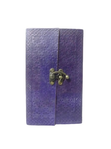 Vintage Genuine Leather Book of Shadows Blue Embossed Notebook Journal Memory Diary 9 x 5