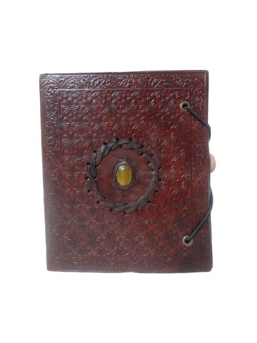 Vintage Genuine Leather Handmade Blank Paper Pocket Journal Travel Embossed Mini Diary 6 x 5
