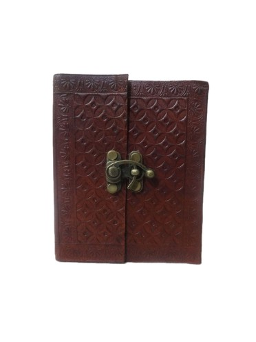 Beautiful Vintage Genuine Leather Pocket Mini Notebook Journal Memory Diary With Lock